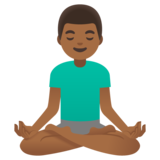 Man in Lotus Position: Medium-Dark Skin Tone on Google Android 11.0