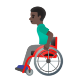 Man in Manual Wheelchair: Dark Skin Tone on Google Android 11.0