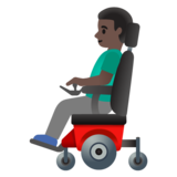 Man in Motorized Wheelchair: Dark Skin Tone on Google Android 11.0