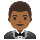 Man in Tuxedo: Medium-Dark Skin Tone on Google Android 11.0
