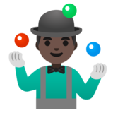 Man Juggling: Dark Skin Tone on Google Android 11.0