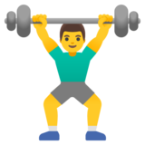 Man Lifting Weights on Google Android 11.0