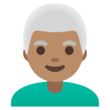 Man: Medium Skin Tone, White Hair on Google Android 11.0