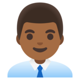 Man Office Worker: Medium-Dark Skin Tone on Google Android 11.0