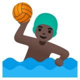 Man Playing Water Polo: Dark Skin Tone on Google Android 11.0