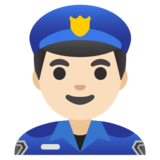 Man Police Officer: Light Skin Tone on Google Android 11.0