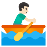 Man Rowing Boat: Light Skin Tone on Google Android 11.0