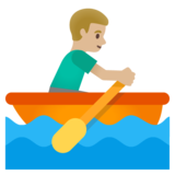 Man Rowing Boat: Medium-Light Skin Tone on Google Android 11.0