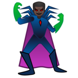 Man Supervillain: Dark Skin Tone on Google Android 11.0