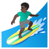 Man Surfing: Dark Skin Tone on Google Android 11.0