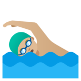 Man Swimming: Medium-Light Skin Tone on Google Android 11.0