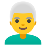 Man: White Hair on Google Android 11.0