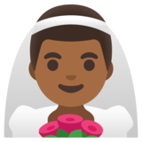 Man with Veil: Medium-Dark Skin Tone on Google Android 11.0