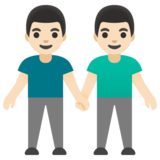 Men Holding Hands: Light Skin Tone on Google Android 11.0