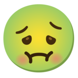 Nauseated Face on Google Android 11.0