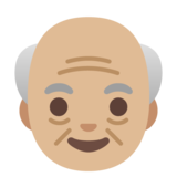 Old Man: Medium-Light Skin Tone on Google Android 11.0