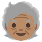 Older Person: Medium Skin Tone on Google Android 11.0