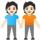 People Holding Hands: Light Skin Tone on Google Android 11.0
