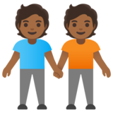 People Holding Hands: Medium-Dark Skin Tone on Google Android 11.0