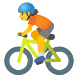 Person Biking on Google Android 11.0