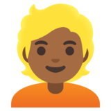 Person: Medium-Dark Skin Tone, Blond Hair on Google Android 11.0