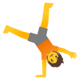 Person Cartwheeling on Google Android 11.0