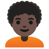 Person: Dark Skin Tone, Curly Hair on Google Android 11.0