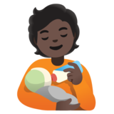 Person Feeding Baby: Dark Skin Tone on Google Android 11.0