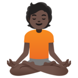 Person in Lotus Position: Dark Skin Tone on Google Android 11.0