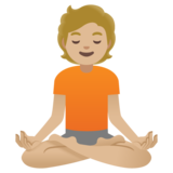 Person in Lotus Position: Medium-Light Skin Tone on Google Android 11.0