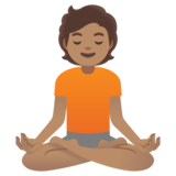 Person in Lotus Position: Medium Skin Tone on Google Android 11.0