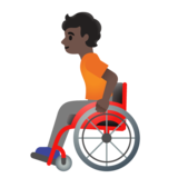Person in Manual Wheelchair: Dark Skin Tone on Google Android 11.0