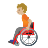 Person in Manual Wheelchair: Medium-Light Skin Tone on Google Android 11.0