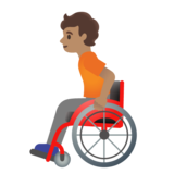 Person in Manual Wheelchair: Medium Skin Tone on Google Android 11.0