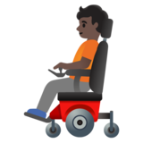 Person in Motorized Wheelchair: Dark Skin Tone on Google Android 11.0