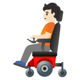 Person in Motorized Wheelchair: Light Skin Tone on Google Android 11.0
