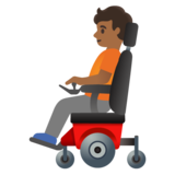 Person in Motorized Wheelchair: Medium-Dark Skin Tone on Google Android 11.0