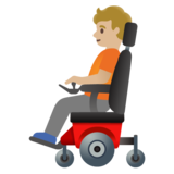 Person in Motorized Wheelchair: Medium-Light Skin Tone on Google Android 11.0