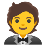Person in Tuxedo on Google Android 11.0