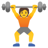 Person Lifting Weights on Google Android 11.0