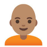 Person: Medium Skin Tone, Bald on Google Android 11.0