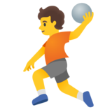 Person Playing Handball on Google Android 11.0