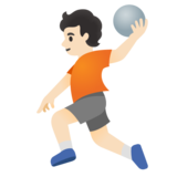 Person Playing Handball: Light Skin Tone on Google Android 11.0
