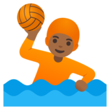 Person Playing Water Polo: Medium-Dark Skin Tone on Google Android 11.0