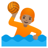Person Playing Water Polo: Medium Skin Tone on Google Android 11.0