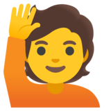 Person Raising Hand on Google Android 11.0