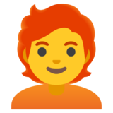 Person: Red Hair on Google Android 11.0