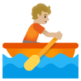 Person Rowing Boat: Medium-Light Skin Tone on Google Android 11.0