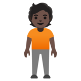 Person Standing: Dark Skin Tone on Google Android 11.0