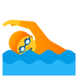 Person Swimming on Google Android 11.0